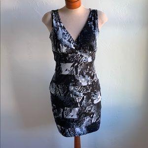 Enfocus Studio Tiered Snakeskin Print Dress